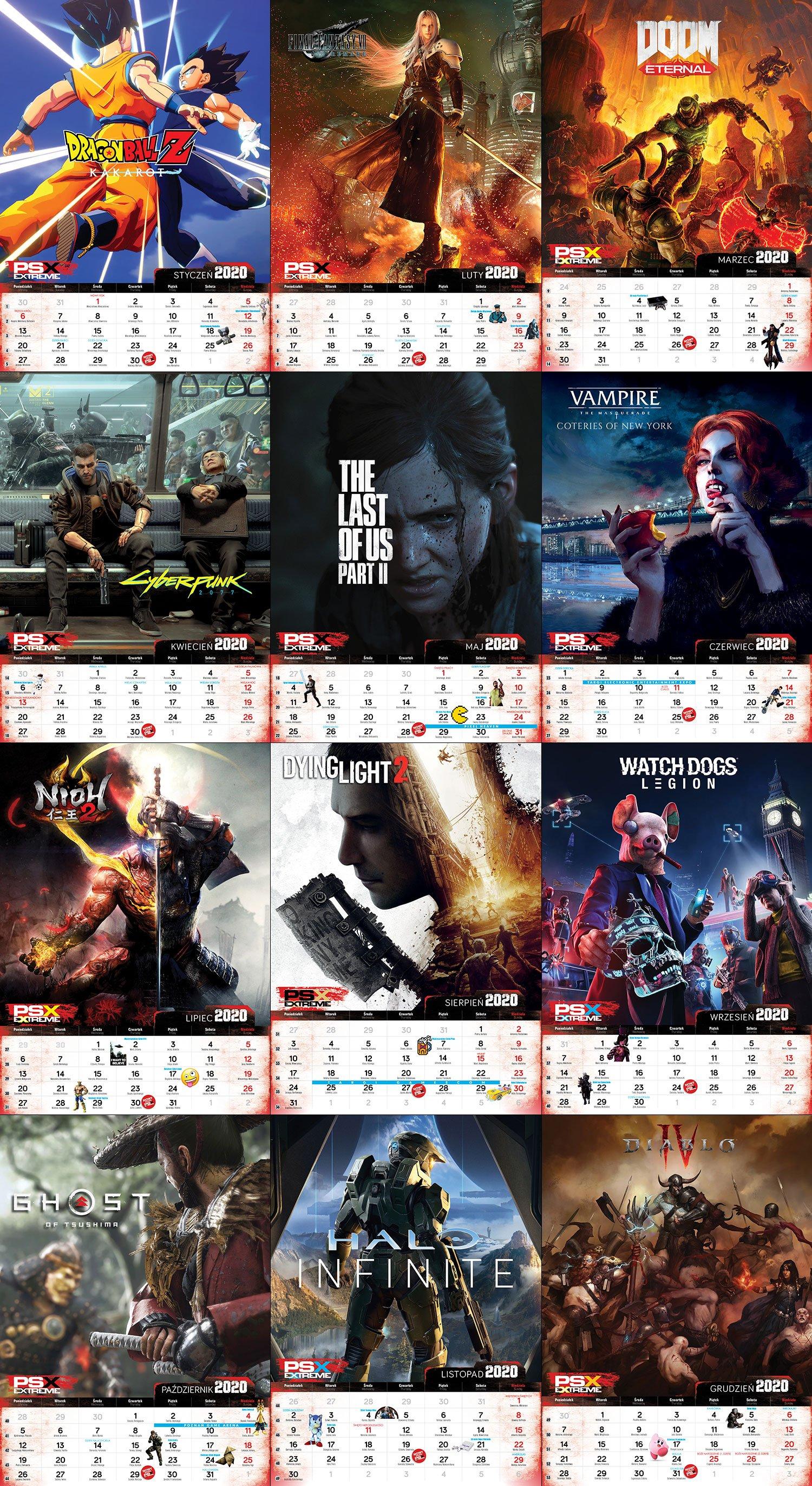 Kalendarz Gracza 2020 PSX Extreme